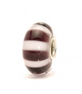 Trollbeads Black and White Stripes - retired Trollbeads - das Original - 1