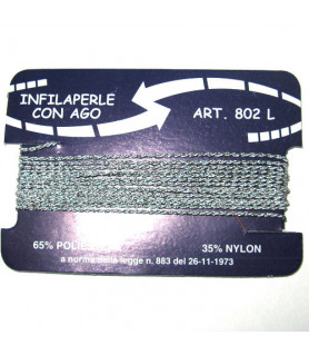 Bead cord Polyamide silver  - 1