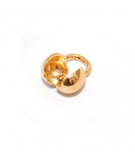 Folding ball 5mm red gold plated  - 1