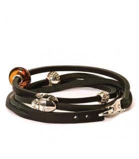 Leder-Armband schwarz Trollbeads - das Original - 1