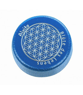"""Spare lid blue with imprint \""""Flower of life Alvito - 1"""
