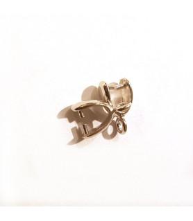 Clip/Steinhalter silber rhodiniert Steindesign - 1