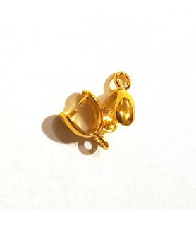 Clip/stone holder for pendant or earring silver gold plated Steindesign - 1