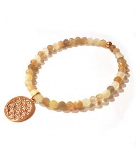 Mondstein-Armband mit Blume des Lebens Steindesign - 2