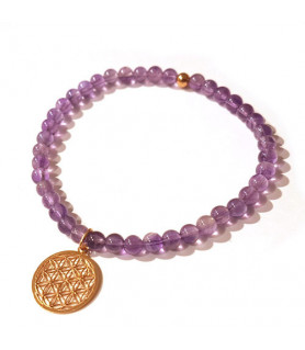 Amethyst bracelet with flower of life Steindesign - 1