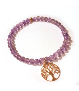 Amethyst bracelet with tree of life Steindesign - 1