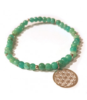 Amazonite bracelet with flower of life Steindesign - 1