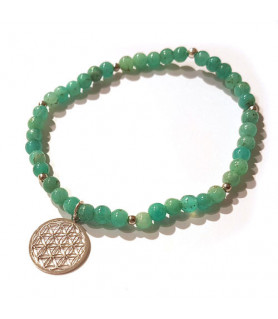 Amazonit-Armband mit Blume des Lebens Steindesign - 2