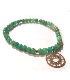 Amazonite bracelet with sun of life Steindesign - 1