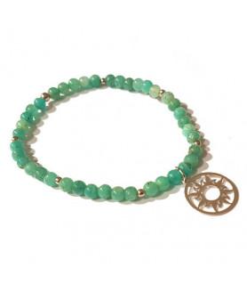 Amazonit-Armband mit Sonne des Lebens Steindesign - 2