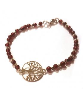 Granat-Armband mit Baum des Lebens Steindesign - 1