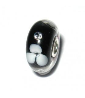 Flower Diamond schwarz - limitiert Trollbeads - das Original - 1