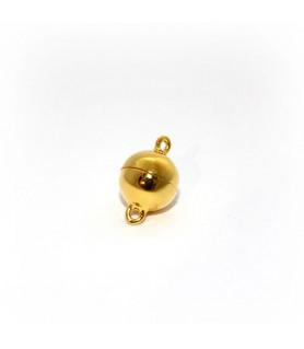 Magnetkugelschließe 10mm, Silber vergoldet  - 1