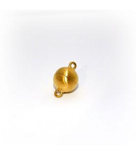 Magnetkugelschließe 10mm, Silber vergoldet, satiniert  - 1