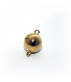 Magnetkugelschließe 12mm, Silber vergoldet  - 1