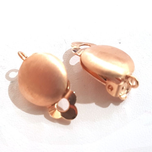 Earclip patent round small, silver gold-plated Steindesign - 1