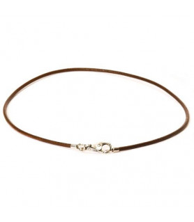 Leder-Halskette dunkelbraun Trollbeads - das Original - 1