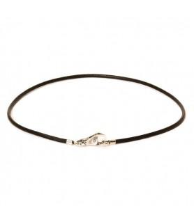 Leder-Halskette schwarz Trollbeads - das Original - 2