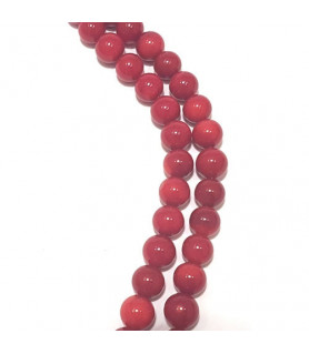bamboo coral light red, ball strand 3mm  - 1