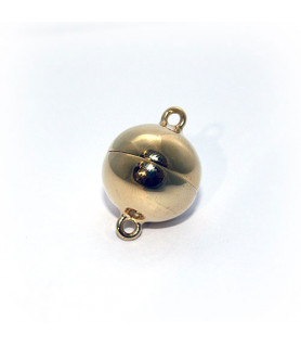 18mm magnetic ball clasp, silver gold plated  - 1