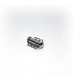 Armbandschließe Magnet 3reihig-kurz, Silber rhodiniert Steindesign - 1