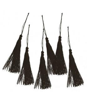 Quaste (Tassel) schwarz, 9,5cm (6 Stück)
