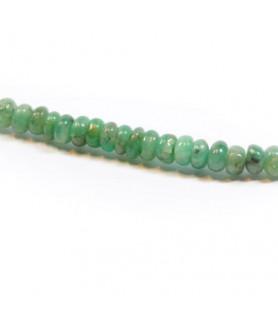 Smaragd-Kette, Button 3-4mm  - 2