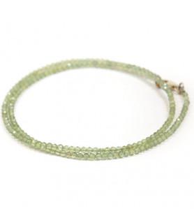 Apatit-Kette grün, 3mm facettiert