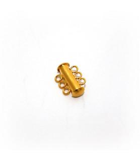 Armbandschließe Magnet 3reihig-kurz, Silber vergoldet satiniert  - 1