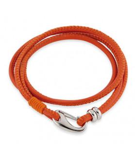 Leder Armband Kelly Orange