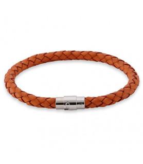 Leder Armband Juno Orange  - 1