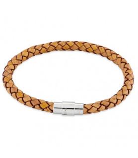 Leder Armband Juno Beige  - 1