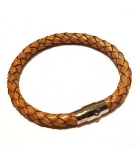 Leder Armband Juno Vintage Beige