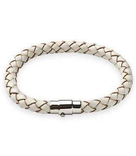 Leder Armband Juno Weiß