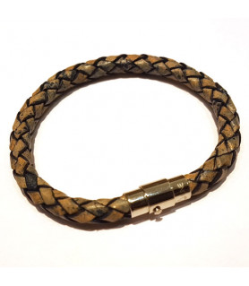 Leder Armband Juno Vintage Graublau