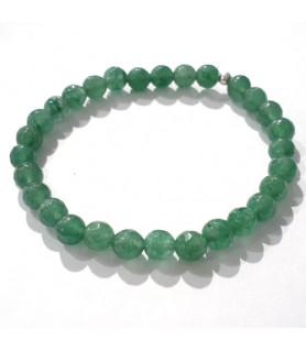 Aventurin grün Armband 6mm facettiert  - 1