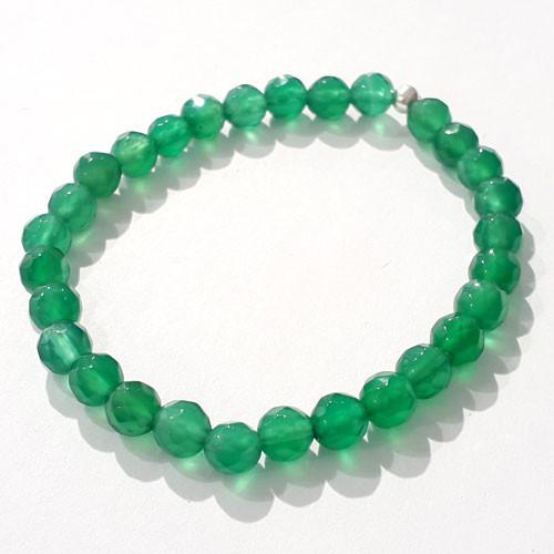Achat grün Armband 6mm facettiert  - 1