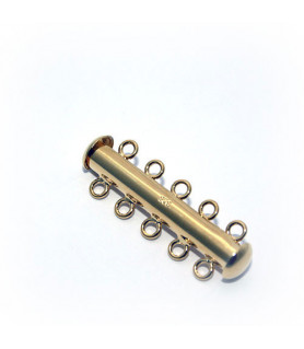 Bracelet clasp magnet 5 rows, silver gold plated  - 1
