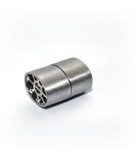 Magnetschließe Ellipse, Silber rhodiniert satiniert  - 1