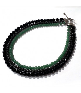 Collier Aventurin-Hämatit-Onyx  - 1
