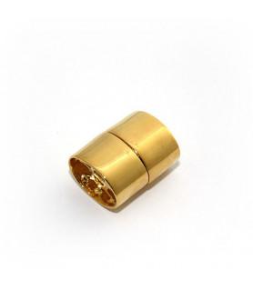 Magnetschließe Ellipse, Silber vergoldet  - 1