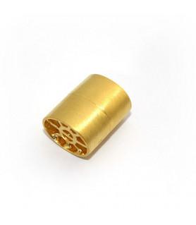 Magnetschließe Ellipse, Silber vergoldet satiniert  - 1