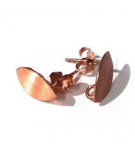 copy of Stud earrings patent navette, silver gold-plated Steindesign - 1