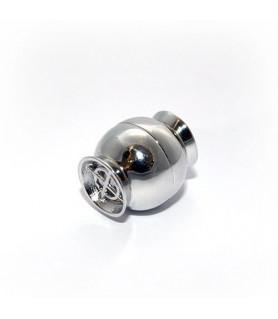 Magnetschließe Netz groß, Silber rhodiniert Steindesign - 1