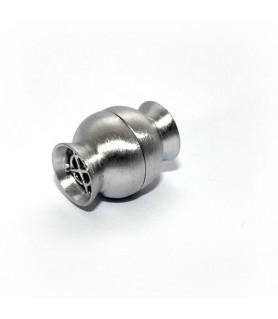 Magnetschließe Netz groß, Silber rhodiniert satiniert  - 1