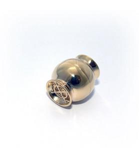 Magnetschließe Netz groß, Silber vergoldet  - 1