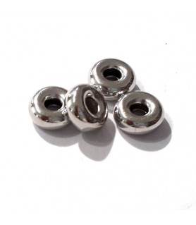 Hohlringe 4,5mm, 10 Stück, Silber rhodiniert  - 1