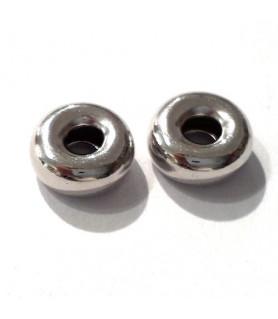 Hohlring 9 mm, Silber rhodiniert  - 2