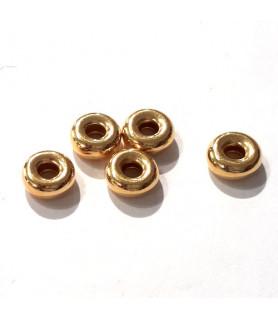 Hohlringe 7 mm, 3 Stück, Silber vergoldet  - 1