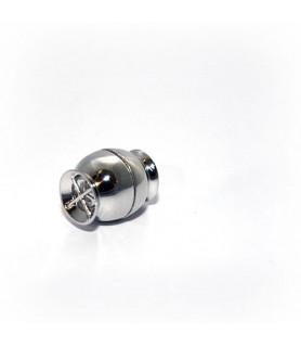 Magnetschließe Netz klein, Silber rhodiniert Steindesign - 1